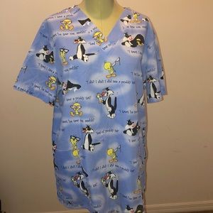 Scrub Looney Toons light  Blue Tweety Silvester